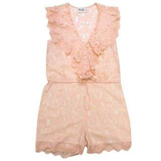Alice by Temperley Pink Lace Playsuit