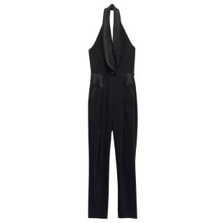 Alice by Temperley Black Halter Jumpsuit