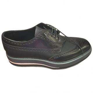 Prada Men's Oxford Lace Up Shoes