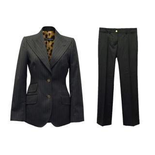 Dolce & Gabbana Grey Pin Stripe Suit and Pants