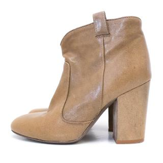 Laurence Dacade Tan Leather Booties