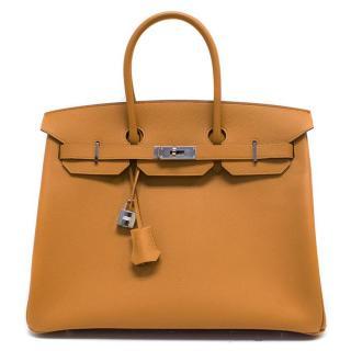 Hermes Birkin Epsom Leather Caramel 35 cm