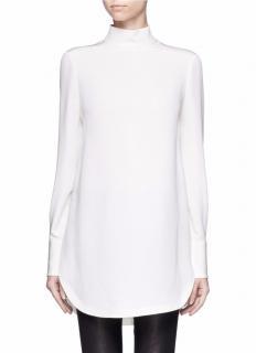 Alexander McQueen white silk tunic