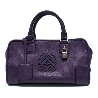 Loewe Purple Leather Handbag